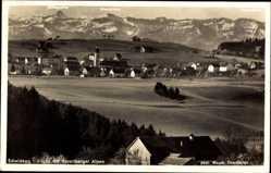 Postcard Scheidegg Schwaben Allgäu, Vorarlberger Alpen, Totalansicht