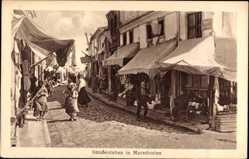 Postcard Mazedonien, Straßenleben, Mazedonier, Geschäfte