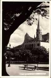 Postcard Rio de Janeiro Brasilien, Kirchturm, Platz, Sitzbank, Laterne