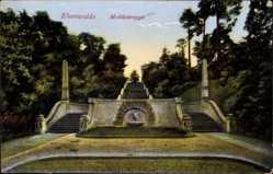 Postcard Eberswalde im Kreis Barnim, Ansicht der Molketreppe