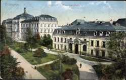 Postcard Erlangen in Mittelfranken Bayern, Universität und Mineralogisches Institut