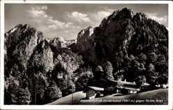 Postcard Schönau Königssee, Alpenwirtschaft Vorderbrand 1067 Meter gegen Hohes Brett