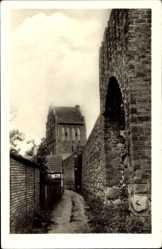 Postcard Templin im Kreis Uckermark, Ansicht der Stadtmauer