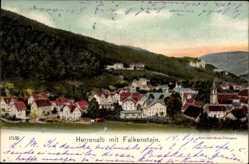 Postcard Bad Herrenalb im Schwarzwald, Gesamtansicht mit Falkenstein