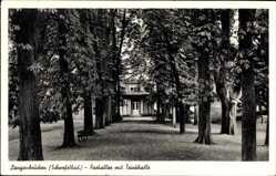 Postcard Langenbrücken Bad Schönborn, Parkallee mit Trinkhalle