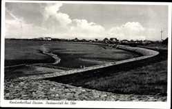 Postcard Büsum Dithmarschen, Ansicht der Badeanstalt bei Ebbe