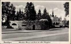 Postcard Gardelegen, Blick in die Stendaler Straße, Altes Burgtor, Ruine