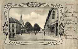 Passepartout Ak Bockenem Kreis Hildesheim, Blick auf den Marktplatz
