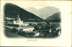 Postcard Ettal in Oberbayern, Blick auf das Kloster mit Umgebung