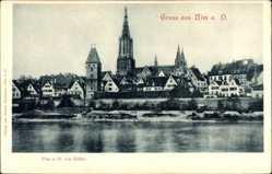 Postcard Ulm an der Donau Baden Württemberg, Blick von Süden auf die Stadt