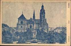Postcard Košice Kassa Kaschau Slowakei, Ansicht vom Dom, Grünanlagen