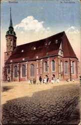 Postcard Bautzen in der Lausitz, Blick auf die St. Petri Kirche