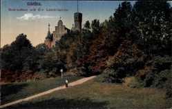 Postcard Görlitz in der Lausitz, Restaurant auf der Landeskrone