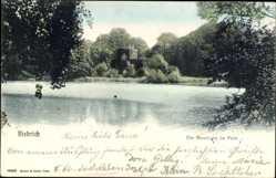 Postcard Biebrich Wiesbaden in Hessen, Die Moosburg im Park