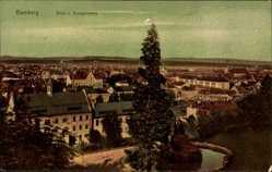 Postcard Bamberg an der Regnitz Oberfranken, Blick vom Michaelsberg auf den Ort