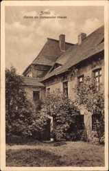 Postcard Zittau, Garten des Dornspacher Hauses, Rosenspalier, Fenster