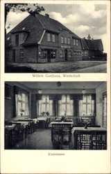 Postcard Westerholt Wardenburg Oldenburg, Willers Gasthaus, Klubzimmer