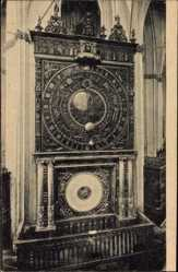 Postcard Rostock in Mecklenburg Vorpommern, Astronomische Uhr, Marienkirche