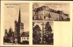 Postcard Brauweiler Rheinland Pfalz, Kath. Kirche, Provinzial Arbeitsanstalt, Kreuz