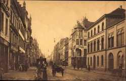 Postcard Düsseldorf am Rhein, Schadowstraße, Straßenpartie, Gebäude