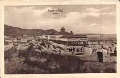 Postcard Ostseebad Baabe auf Rügen, Seebrücke, Strand, Steg