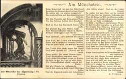 Gedicht Ak Elgersburg im Ilm Kreis Thüringen, Mönchhof, Eingang, Am Mönchstein
