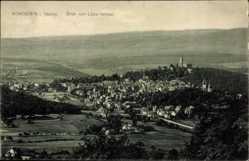 Postcard Königstein im Taunus Hessen, Blick vom Lipps Tempel auf den Ort