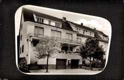 Passepartout Ak Haina Halgehausen in Hessen, Blick auf die Diätpension Krause