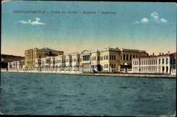 Postcard Konstantinopel Istanbul Türkei, Palais du Dolma, Bagtché, Bosphore