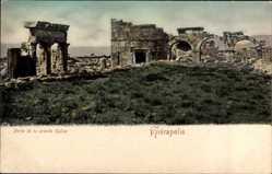 Postcard Hierapolis Griechenland, Porte de la grande Église, Kirchenruinen