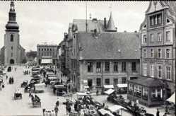 Ak Tschernjachowsk Insterburg Ostpreußen, Alter Markt, Lutherkirche, Rathaus