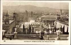 Postcard Barcelona Katalonien, Expo, Weltausstellung 1929, Palacio Nacional