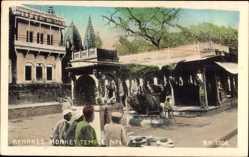 Postcard Varanasi Benares Indien, Monkey Temple, Affentempel, Platz