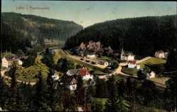 Postcard Naila Frankenwald, Hölle, Stadtpanorama, Waldhang, Berge, Glockenturm