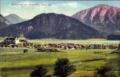 Postcard Schlehdorf, Jocherberg, Stadtpanorama, Berge, Schloss, Purger 12674