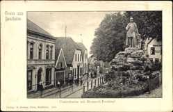Postcard Bad Bentheim in Niedersachsen, Stadtansicht, Bismarck Denkmal