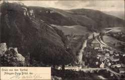 Postcard Brück Nideggen in der Eifel, Ruhrtal, Stadtpanorama, Brücke