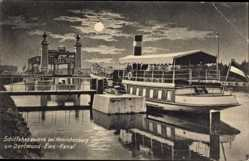 Postcard Henrichenburg Castrop Rauxel, Schiffshebewerk, Dortmund Ems Kanal