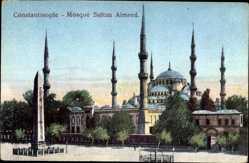 Postcard Konstantinopel Istanbul Türkei, Mosquée Sultan Almred