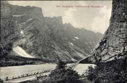Postcard Romsdal Norwegen, Ved Horgheim, Troltinderne Romsdalen