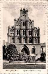 Ak Chojna Königsberg Neumark Ostbrandenburg, Rathaus, Rückansicht des Gebäudes