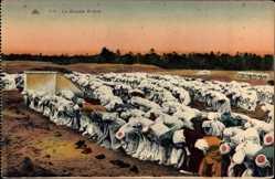 Ak La Grande Prière, Großes Gebet, Muslime, Barfuß