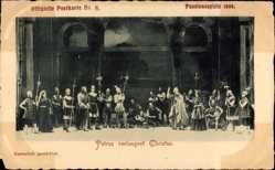 Ak Oberammergau, Passionsspiele 1900, Petrus verleugnet Christus