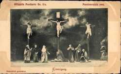 Ak Oberammergau, Passionsspiele 1900, Kreuzigung, Christus