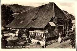 Postcard Glottertal, Blick auf das Gasthaus Zum Engel, Inhaber Karl Linder