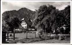 Foto Ak Fischhausen Schliersee Kreis Miesbach Oberbayern, Hotel Finsterlin