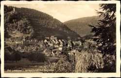 Postcard Bad Liebenzell im Schwarzwald, Blick auf den Ort mit Burgruine