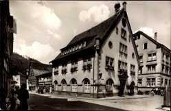 Postcard Hornberg im Ortenaukreis, Straßenpartie mit Hausansichten