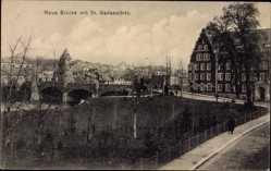Postcard Bad Kreuznach in Rheinland Pfalz, Neue Brücke mit St. Marienwörth