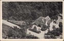 Postcard Bendestorf Niedersachsen, Haus Sonneblick, Fliegeraufnahme, Wald